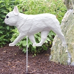French Bulldog Garden Stake-White