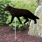 German Shepherd Garden Stake-Black