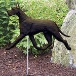 Great Dane Garden Stake-Black