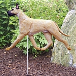 Great Dane Garden Stake-Fawn