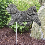 Havanese Garden Stake-Light Grey