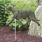 Irish Wolfhound Garden Stake-Grey