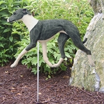 Italian Greyhound Garden Stake-Blue-White