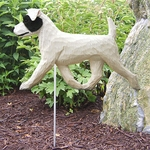 Jack Russell Terrier (rough) Garden Stake-Black-White