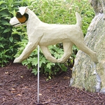 Jack Russell Terrier (rough) Garden Stake-Tri