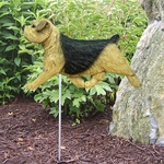 Norfolk Terrier Garden Stake-Black & Tan