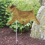 Norfolk Terrier Garden Stake-Grizzle