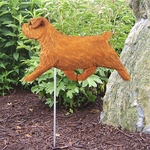 Norfolk Terrier Garden Stake-Red