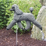Poodle Garden Stake-Grey