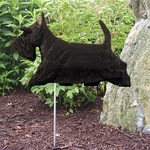Scottish Terrier Garden Stake-Black