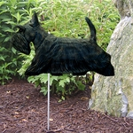 Scottish Terrier Garden Stake-Brindle