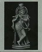Metal Photo of Sri Krishna (2 3/4x2 1/4)