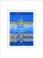 U.S. Capitol Print (Navy/Royal)