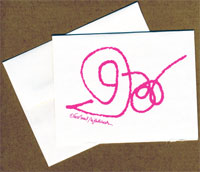 Pink Snail Note Card
