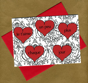 Damask Love Note