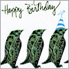 Penguin Birthday (green)