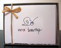 Merci Beaucoup - box of 8 notes
