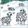 Snowy Sheep (French)