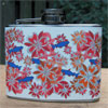Fishy Fleur de Lis Flask - Red