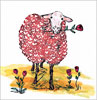 Lovable Ewe Note Card (White)