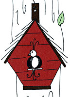 Birdhouse Note Card Set