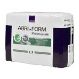 "Abena Abri-Form Premium Adult Briefs - 39"" - 60"" - Green L3 - 80/Case"
