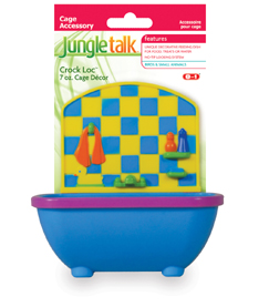 JungleTalk Cage Decor Tub Feeder