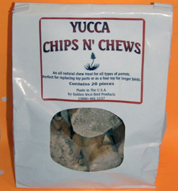 Golden West YUCCA CHIPS N'CHEWS 20 pieces