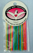 "Super Bird Creations Paper Stick Small 25ct 4"" long"