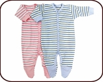 Organic Striped Footie Pajama