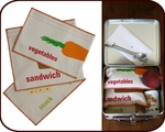Organic Sandwich & Snack Bags - Set of 3 (snack & veggie)