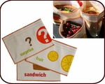Organic Sandwich & Snack Bags - Set of 3 (fruit & surprise)