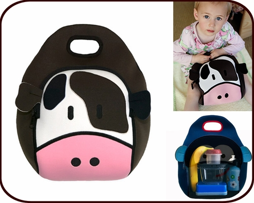 Insulated Cow Lunch Bag