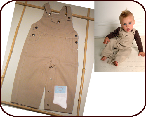 Bamboo Baby Overalls