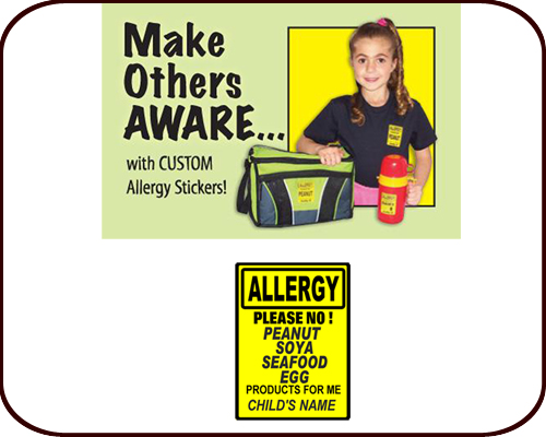 Personalized Allergy Labels (set of 60)