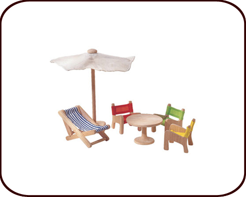 Dollhouse accessories - Patio furniture