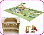 DOLLHOUSE, ECO-TOWN & ACCESSORIES