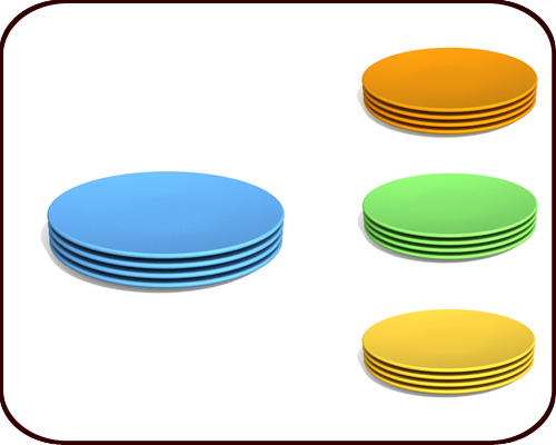 Snack Plates (set of 4)