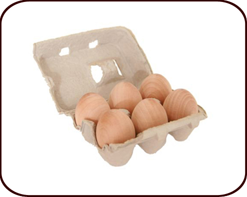 Play Food – Wooden Eggs (2 years +)