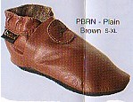 Bobux chocolate classic soft leather shoes that stay on.
