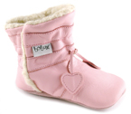 Bobux very soft pink boot with   a suede sole to prevent slipping.