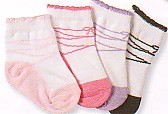 Jeffries very soft ballet style socks with scalloping and elastic at the top.  Comes in light pink, medium pink, lilac, and black.