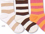 Country Kids very soft striped socks with roll top.  Comes in ivory/brown and khaki/white.