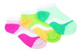 Jefferies socks 2213 wave ped ankle socks.  Comes in aqua, pink, and lime.