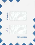Double Window First Class Envelope