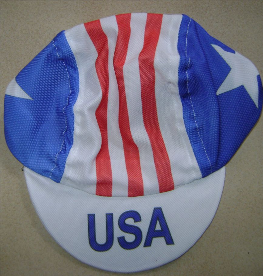 d9555b52c3c USA Flag Cycling Cap