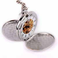 Silver Pocket Watch With Mechanical Movement PW20