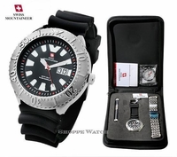 Swiss Mens Interchangeable Watch & Compass