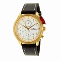 Thunderbirds THU1060-02-E11 Flight Gold White Dial Strap Watch