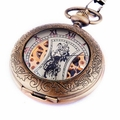 Mechanical Skeleton Pocket Watch PW14